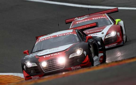 An important victory for Audi at the 24 Hours of Spa