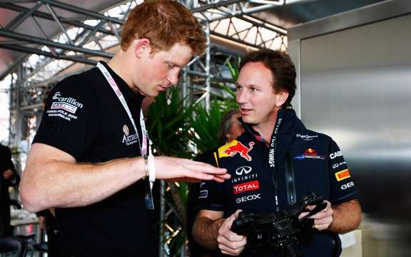 Prince Harry wants to F1!