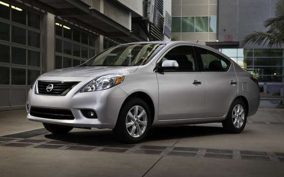 2012 Nissan Versa: From $ 11,798 in Canada