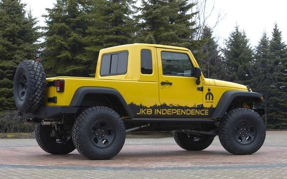 Jeep Wrangler Unlimited JK8: Convertible into truck picture #2