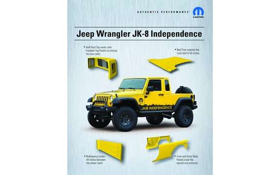 Jeep Wrangler Unlimited JK8: Convertible into truck picture #4