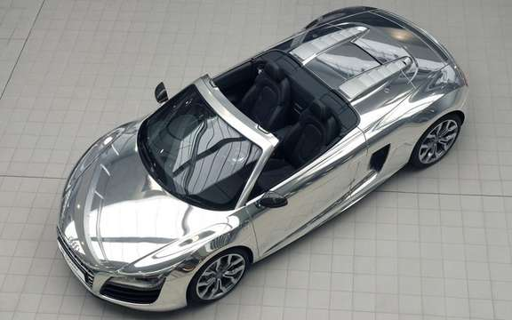 The Audi R8 Spyder Chrome will be put to auction
