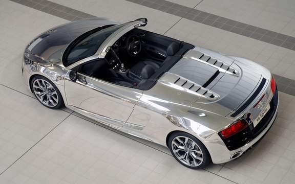 The Audi R8 Spyder Chrome will be put to auction picture #2