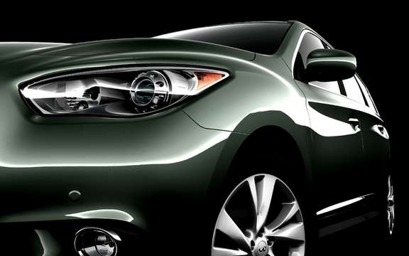 Infiniti JX Concept: Start of a long strip
