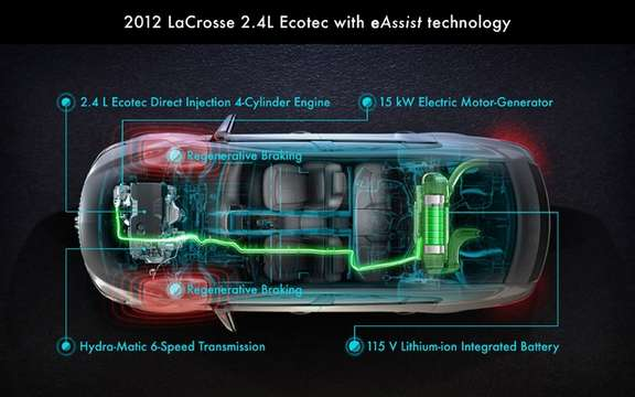 Buick LaCrosse eAssist 2012: charged from $ 35,415 picture #2