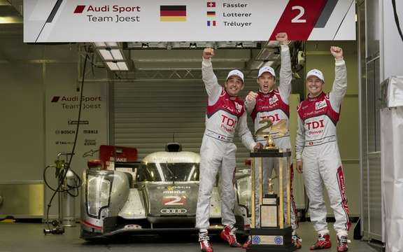 Audi clinched his tenth victory in the 24 Hours of Le Mans