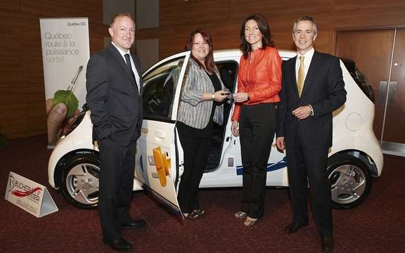 Hydro-Quebec delivers fifteen cars i-MiEV has Boucherville businesses