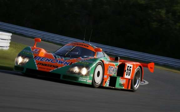 The Mazda 787B, winning the 24 Hours in 1991, returns to Le Mans after 20 years