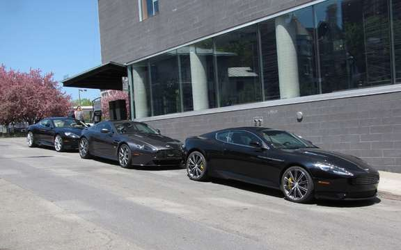 Aston Martin V8 Vantage S and Virage storm the streets of Montreal picture #7
