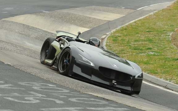 Peugeot EX1: New record around the Nurburgring