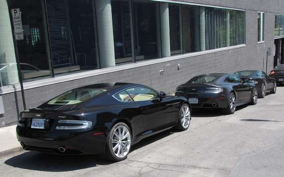 Aston Martin V8 Vantage S and Virage storm the streets of Montreal picture #8