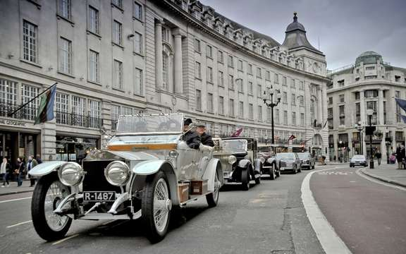 Rolls Royce commemorates the 100th anniversary of the