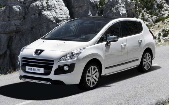 Peugeot 3008 HYbrid4 Limited Edition: first diesel hybrid in the world