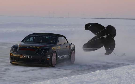 Bentley Continental Supersports: Speed ​​record on ice