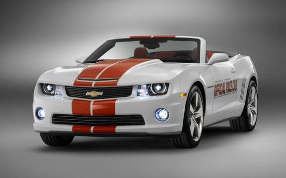 Chevrolet Camaro SS convertible: Car driver to Indianapolis 500