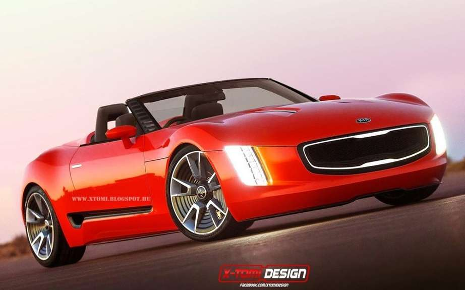 Kia GT4 Stinger cabriolet imagine X-Tomi Design picture #2