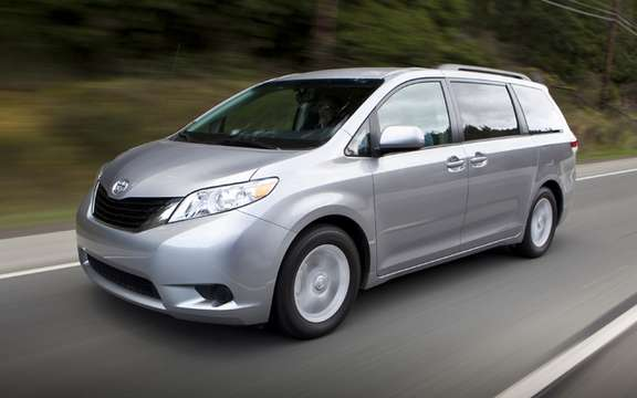 2011 Toyota Sienna: Recall of 12,600 vehicles