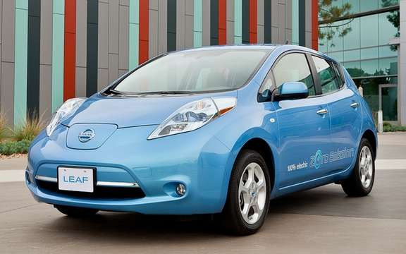 Nissan agrees to sell 500 Nissan LEAF partners
