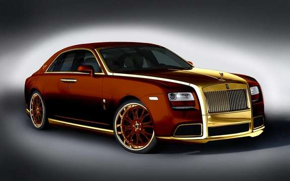 Roll's Royce Ghost Diva: Gold Fenice Milano