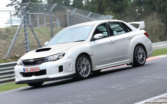 Subaru Impreza WRX 2011: With wider track