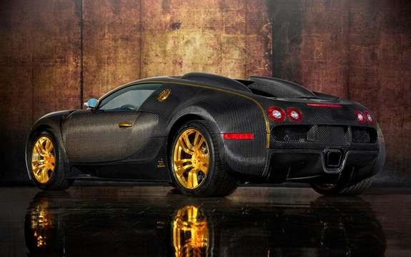 Mansory LINEA Vincero d'Oro Bugatti Veyron against a background of picture #2