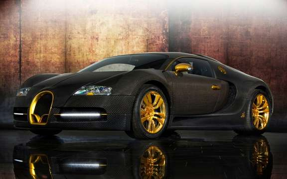 Mansory LINEA Vincero d'Oro Bugatti Veyron against a background of picture #3