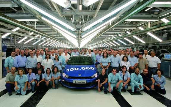 Volkswagen Scirocco III: 100 000th unit produced