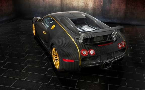 Mansory LINEA Vincero d'Oro Bugatti Veyron against a background of picture #4