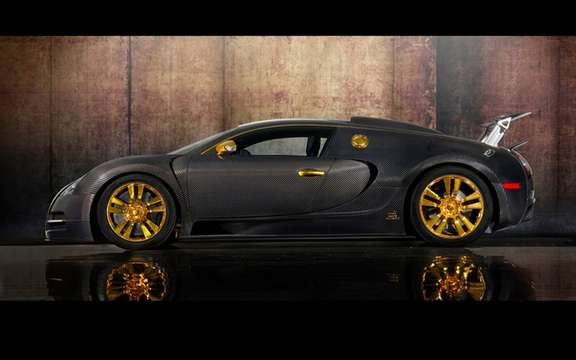 Mansory LINEA Vincero d'Oro Bugatti Veyron against a background of picture #5