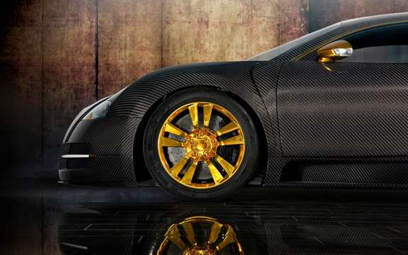 Mansory LINEA Vincero d'Oro Bugatti Veyron against a background of picture #6
