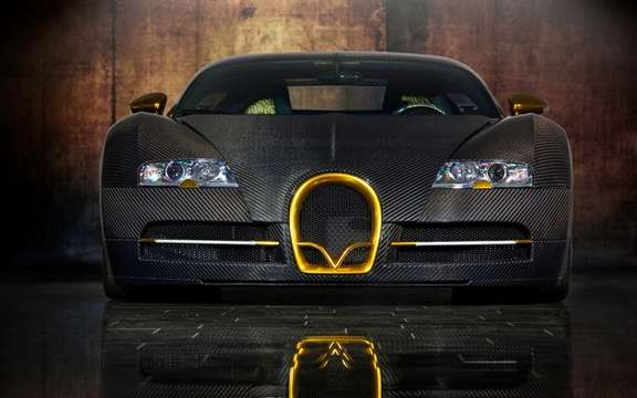 Mansory LINEA Vincero d'Oro Bugatti Veyron against a background of picture #7