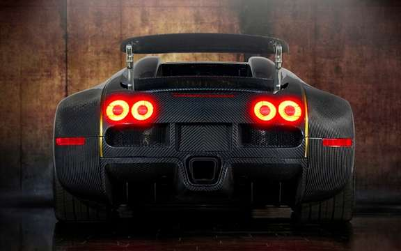 Mansory LINEA Vincero d'Oro Bugatti Veyron against a background of picture #8