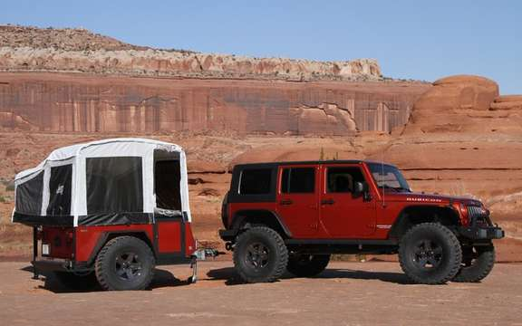 Jeep presents its small caravans tractees