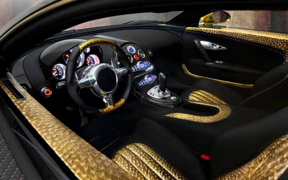 Mansory LINEA Vincero d'Oro Bugatti Veyron against a background of picture #10