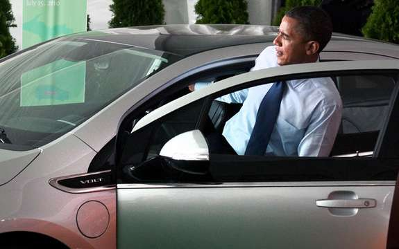 Chevrolet Volt: First contact with the president of the United States