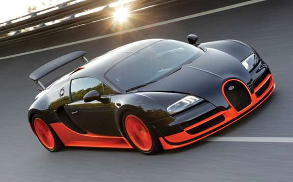 Bugatti Veyron 16.4 Super Sport: A flight was 434.211 km / h