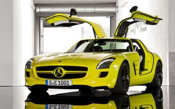 Mercedes SLS AMG E-Cell: Already in prototype form picture #2