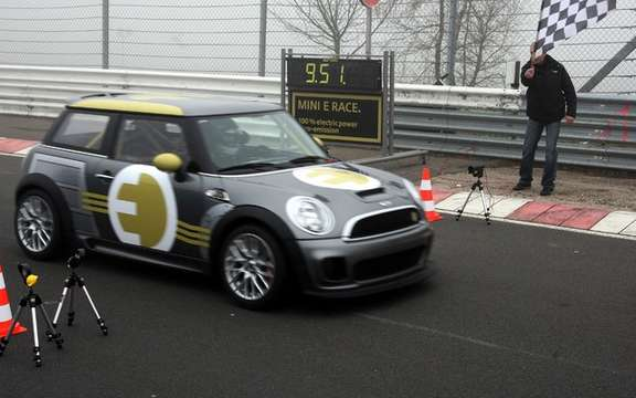 Mini E Race: 187 km / h without polluting