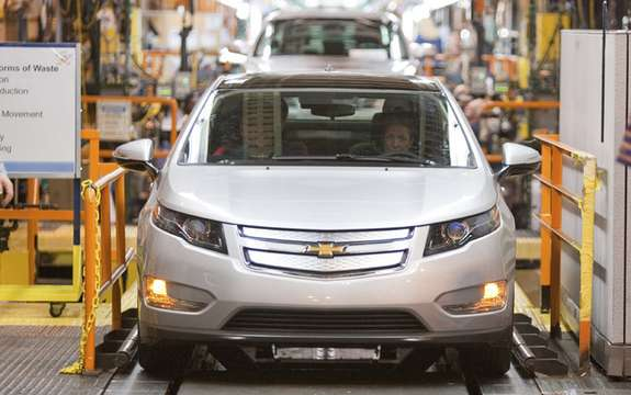The first Chevrolet Volt pre-production produced