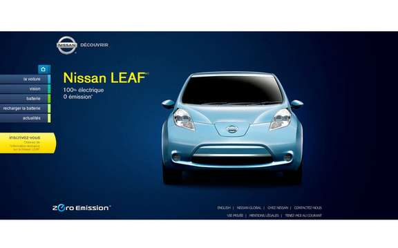 Nissan launches website for its LEAF