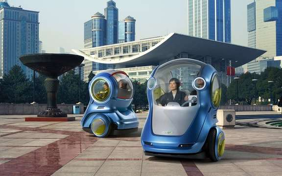 GM EN-V Concept: A certain vision of the urban mobility of tomorrow