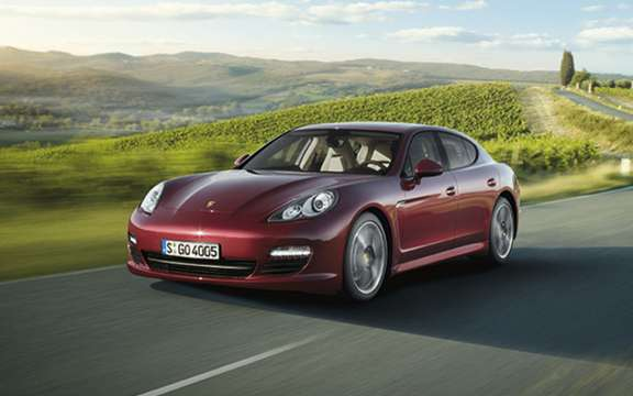 The six-cylinder Porsche Panamera will debut in Beijing