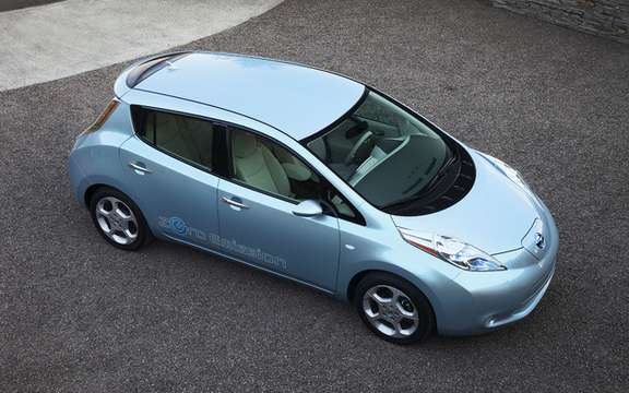 The Nissan LEAF made its Canadian entry in Vancouver