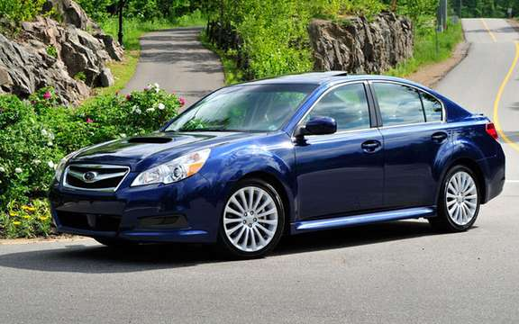 2010 Subaru Legacy: 5 star safety