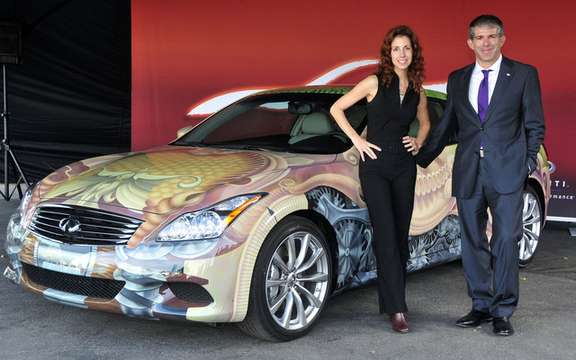 The model unveiled Infiniti G Anniversary Gala Canadian Art