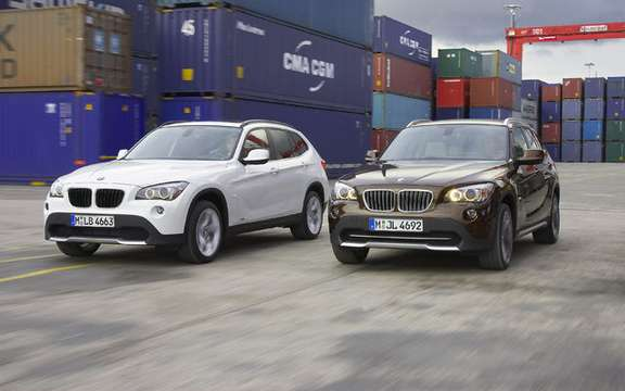 The new BMW X1 in its livery North-American
