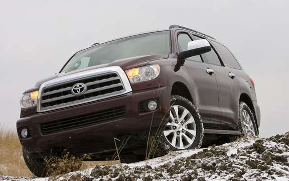 Toyota Sequoia 2010 with a more powerful engine and thrifty