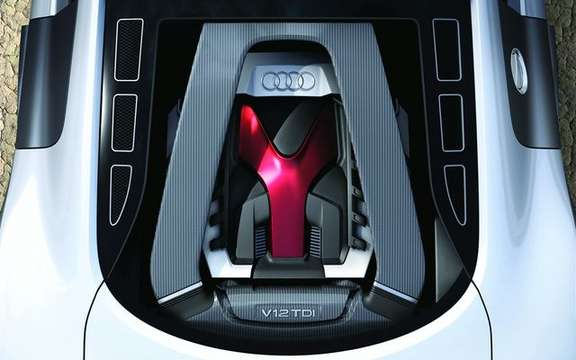 Audi R8 V12 TDI, no question of producing the most beautiful Eco fireball. picture #5