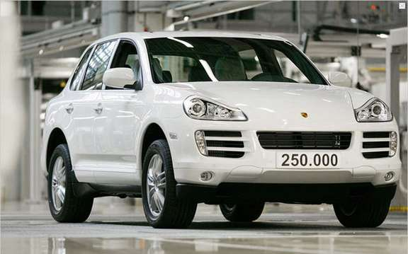 Porsche Cayenne, already 250,000 units produced