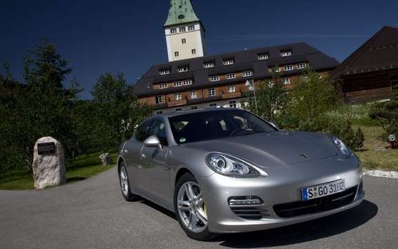 Porsche Panamera 2010, after the passenger silhouette here
